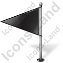 Map Marker Flag 1 Left Black Icon, PNG/ICO, 128x128