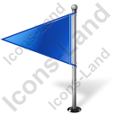 Map Marker Flag 1 Left Blue Icon