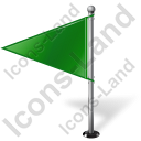 Map Marker Flag 1 Left Green Icon