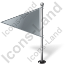 Map Marker Flag 1 Left Grey Icon