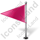 Map Marker Flag 1 Left Pink Icon, PNG/ICO, 128x128