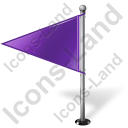 Map Marker Flag 1 Left Violet Icon, PNG/ICO, 128x128