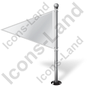 Map Marker Flag 1 Left White Icon, PNG/ICO, 128x128