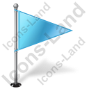 Map Marker Flag 1 Right Azure Icon, PNG/ICO, 128x128