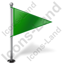 Map Marker Flag 1 Right Green Icon, PNG/ICO, 128x128