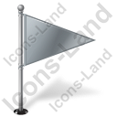 Map Marker Flag 1 Right Grey Icon, PNG/ICO, 128x128