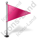 Map Marker Flag 1 Right Pink Icon, PNG/ICO, 128x128