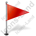 Map Marker Flag 1 Right Icon