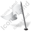 Map Marker Flag 3 Left White Icon, PNG/ICO, 128x128