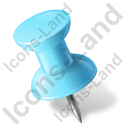 Map Marker Push Pin 1 Left Azure Icon, PNG/ICO, 128x128