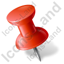 Map Marker Push Pin 1 Left Red Icon