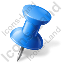 Map Marker Push Pin 1 Right Blue Icon, PNG/ICO, 128x128
