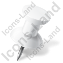 Map Marker Push Pin 1 Right White Icon