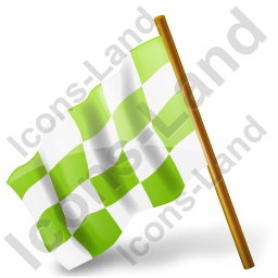 Map Marker Chequered Flag Left Chartreuse Icon, PNG/ICO, 256x256