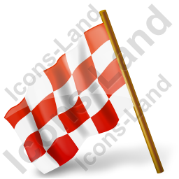 Map Marker Chequered Flag Left Red Icon, PNG/ICO, 256x256