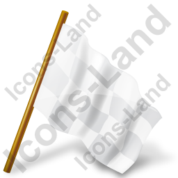 Map Marker Chequered Flag Right White Icon, PNG/ICO, 256x256