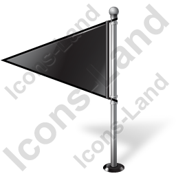 Map Marker Flag 1 Left Black Icon, PNG/ICO, 256x256