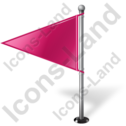 Map Marker Flag 1 Left Pink Icon, PNG/ICO, 256x256