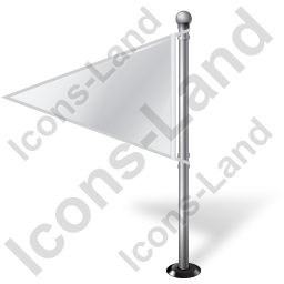 Map Marker Flag 1 Left White Icon, PNG/ICO, 256x256