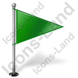 Map Marker Flag 1 Right Green Icon, PNG/ICO, 256x256