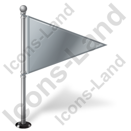 Map Marker Flag 1 Right Grey Icon, PNG/ICO, 256x256