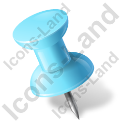 Map Marker Push Pin 1 Left Azure Icon, PNG/ICO, 256x256