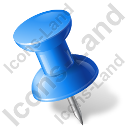 Map Marker Push Pin 1 Left Blue Icon