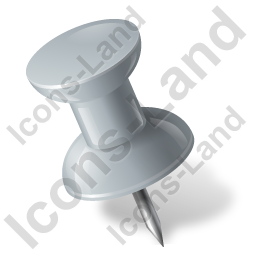 Map Marker Push Pin 1 Left Grey Icon