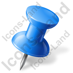 Map Marker Push Pin 1 Right Blue Icon, PNG/ICO, 256x256