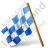Map Marker Chequered Flag Left Blue Icon, PNG/ICO, 48x48