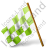 Map Marker Chequered Flag Left Chartreuse Icon, PNG/ICO, 48x48