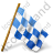 Map Marker Chequered Flag Right Blue Icon