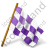 Map Marker Chequered Flag Right Violet Icon