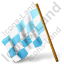 Map Marker Chequered Flag Left Azure Icon