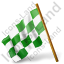 Map Marker Chequered Flag Left Green Icon