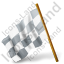 Map Marker Chequered Flag Left Grey Icon