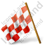Map Marker Chequered Flag Left Red Icon, PNG/ICO, 64x64