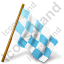Map Marker Chequered Flag Right Icon