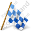 Map Marker Chequered Flag Right Icon, AI, 64x64