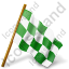 Map Marker Chequered Flag Right Green Icon