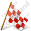 Map Marker Chequered Flag Right Red Icon