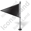 Map Marker Flag 1 Left Black Icon, PNG/ICO, 64x64