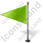 Map Marker Flag 1 Left Chartreuse Icon