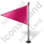 Map Marker Flag 1 Left Pink Icon, PNG/ICO, 64x64