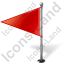 Map Marker Flag 1 Left Red Icon