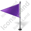 Map Marker Flag 1 Left Violet Icon, PNG/ICO, 64x64