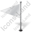 Map Marker Flag 1 Left White Icon