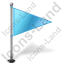 Map Marker Flag 1 Right Azure Icon, PNG/ICO, 64x64