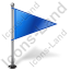 Map Marker Flag 1 Right Blue Icon