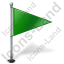 Map Marker Flag 1 Right Green Icon